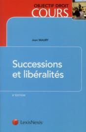 Successions et libéralités - Couverture - Format classique