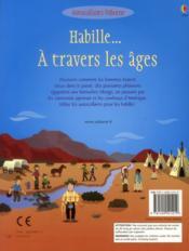 Habille... à travers les âges - 4ème de couverture - Format classique