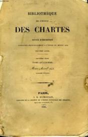 Bibliotheque De L'Ecole Des Chartes - Deuxieme Serie - Tome 4 - Mars Avril - Couverture - Format classique