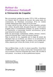 Autour du professeur Poliakoff ; à l'Université de crapette - 4ème de couverture - Format classique
