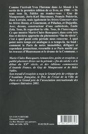 Paris Fin De Siecle - 4ème de couverture - Format classique