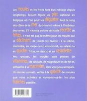 Moules frites - 4ème de couverture - Format classique