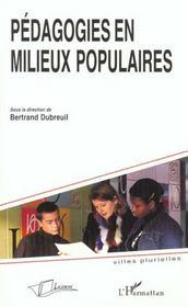 Pedagogie En Milieux Populaires - Intérieur - Format classique