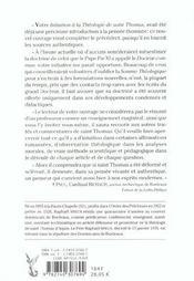 Sommaire theologique de saint thomas d'aquin - tome 3 - 4ème de couverture - Format classique