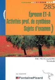 Act Prof De Syntheses Sujets D'Examen Terminale Bac Pro Comptabilite - Couverture - Format classique
