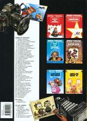 Spirou et Fantasio t.20 ; le faiseur d'or - 4ème de couverture - Format classique