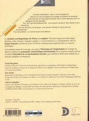 Francais Au Maroc (Le) - 4ème de couverture - Format classique