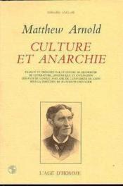 Culture et anarchie - Couverture - Format classique