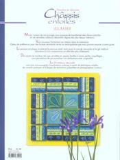 Peindre et décorer vos châssis entoiés - 4ème de couverture - Format classique