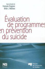 Evaluation de programmes en prevention du suicide - Couverture - Format classique