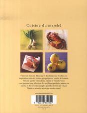Cuisine Du Marche - 4ème de couverture - Format classique
