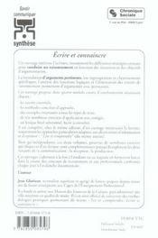 Ecrire Et Convaincre - 4ème de couverture - Format classique