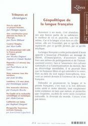 Libres, N 2 Mai 2004 - 4ème de couverture - Format classique