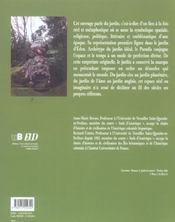 Le Jardin: Figures Et Metamorphoses - 4ème de couverture - Format classique