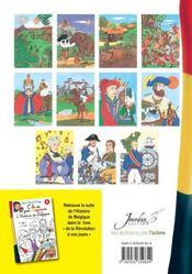 Apprends Et Colorie L'Histoire De Belgique Avec Annie Cordy ; De Leopold 1er A La Creation De L'Etat Belge - 4ème de couverture - Format classique