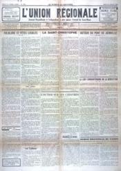 Union Regionale (L') N°1091 du 27/07/1939 - Couverture - Format classique