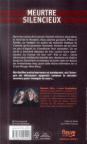 Meurtre silencieux - 4ème de couverture - Format classique