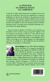 La pratique du service social au Cameroun - 4ème de couverture - Format classique