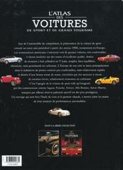 L'atlas des voitures de sport et de grand tourisme - 4ème de couverture - Format classique