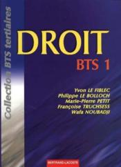 Droit Bts 1re Annee - Edition 1998 - Couverture - Format classique