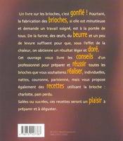 Dorees et gonflees les brioches - 4ème de couverture - Format classique