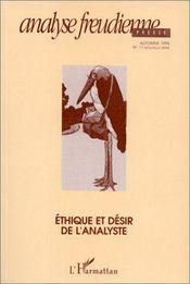 Analyse Freudienne No 11 - Couverture - Format classique
