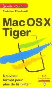 Mac Os X Tiger - Intérieur - Format classique