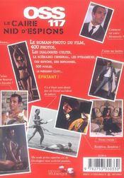 Oss 117 Le Caire Nid D Espions - 4ème de couverture - Format classique