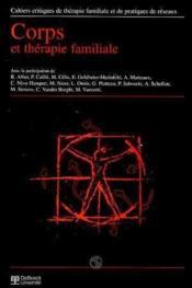 Corps Et Therapie Familiale Cahiers Critiques 1999/1 N.22 - Couverture - Format classique
