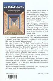 Au-Dela De La Vie - Communiquer Au-Dela - 4ème de couverture - Format classique