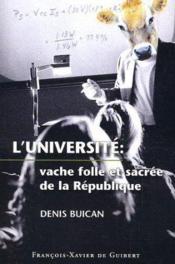 Universite, Vache Folle De La Republique - Couverture - Format classique
