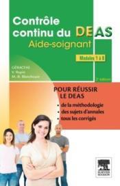 Contrôle continu du DEAS ; modules 1 à 8 (2e édition) - Couverture - Format classique