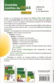Contrôle continu du DEAS ; modules 1 à 8 (2e édition) - 4ème de couverture - Format classique