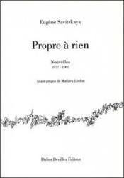 Propre à rien ; nouvelles 1977-1995 - Couverture - Format classique