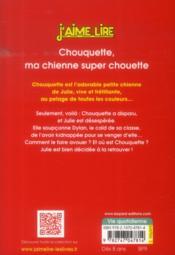 Chouquette, ma chienne super chouette - 4ème de couverture - Format classique