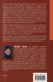Luxes et internationalisation (xvie -xixe siecles) - 4ème de couverture - Format classique
