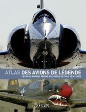 Atlas des avions de legende - Couverture - Format classique
