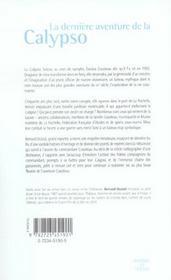 La Derniere Aventure De La Calypso - 4ème de couverture - Format classique