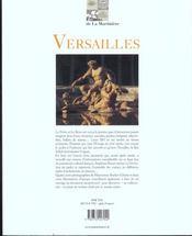 Versailles un jardin a la francaise - 4ème de couverture - Format classique