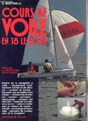 Cours Voile 18 Lecons - Couverture - Format classique