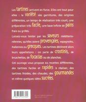 Tartines, planchas, crostinis - 4ème de couverture - Format classique