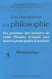 Une introduction à la philosophie métaphysique - Intérieur - Format classique