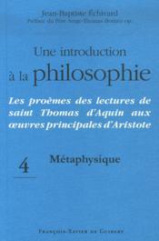 Une introduction à la philosophie métaphysique - Couverture - Format classique