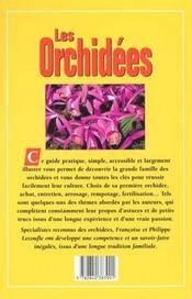 Les Orchidees - 4ème de couverture - Format classique