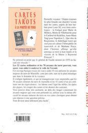 Cartes Et Tarots A La Portee De Tous - 4ème de couverture - Format classique
