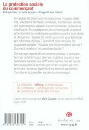 La Protection Sociale Du Commercant - 4ème de couverture - Format classique