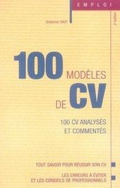 100 modèles de cv (3e édition) - Intérieur - Format classique