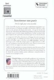 Sanctionner Sans Punir - 4ème de couverture - Format classique