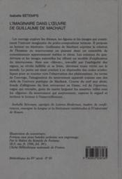 L'Imaginaire Dans L'Oeuvre De Guillaume De Machaut. - Couverture - Format classique
