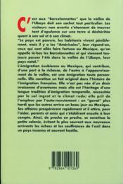 Les barcelonnettes au mexique - 4ème de couverture - Format classique